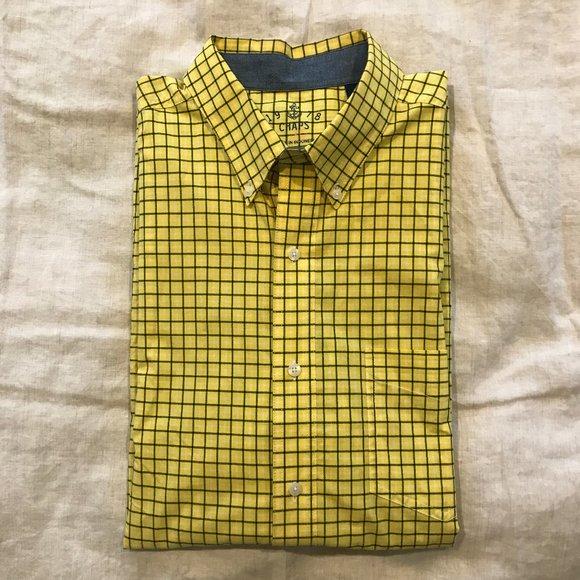 Short Sleeve Blouses Chaps size  petite SM Multi Color Yellow 100/% cotton NWT